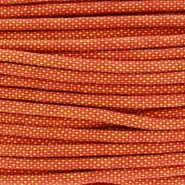 Cordon tressé Jules 8 mm - orange x 1m