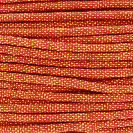 Braided cord Jules 8 mm - orange x 1m