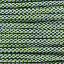 Braided cord Dyna 8 mm - green/lime/white x 1m