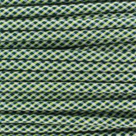 Cordon tressé Dyna 8 mm - vert/anis/blanc x 1m
