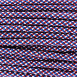 Cordon tressé Dyna 8 mm - bleu/rouge/blanc x 1m