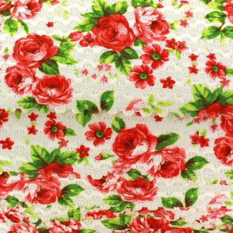 Elastique plat Blossom 60 mm - écru x 1m