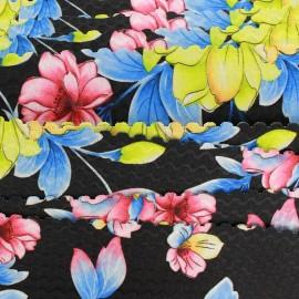 Flat elastic Blossom - black x 1m