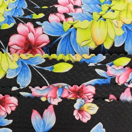 Elastique plat Blossom 60 mm - noir x 1m