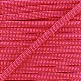 Flat Braid trimming Ribbon Diamond 11 mm - fuchsia/red x 1m