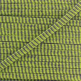 Flat Braid trimming Ribbon Diamond 11 mm - green/purple x 1m