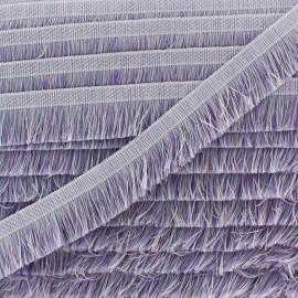 Franges multi Aymara 20 mm - lilas x 1m