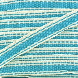 Large grain Ribbon Playa 20 mm - azure x 1m