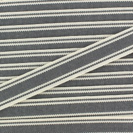 Ruban gros grain Playa 20 mm - gris x 1m