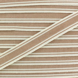 Ruban gros grain Playa 20 mm - beige x 1m