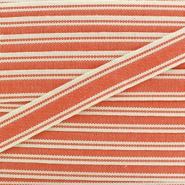 Large grain Ribbon Playa 20 mm - orange x 1m