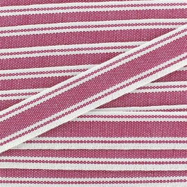 Large grain Ribbon Playa 20 mm - violine x 1m
