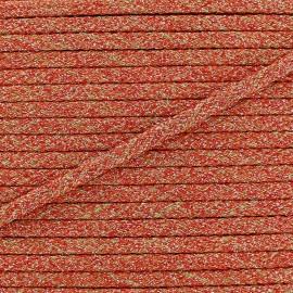Braid trimming lurex Ribbon - orange x 1m