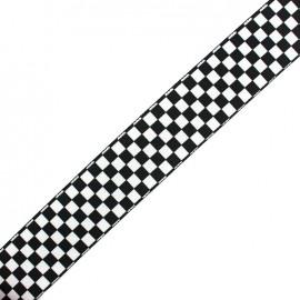 Flat elastic Damier x 50cm
