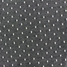 Tissu Jogging chambray Dot - noir x 10cm