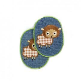Coudières jeans Enfantin - mouton (la paire)