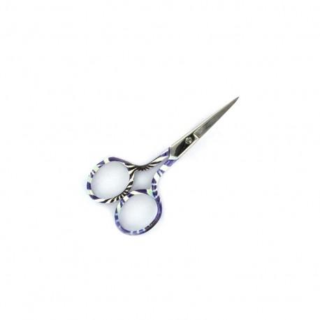 Romantic Embroidery scissors 9 cm - purple
