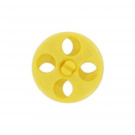 Bouton pression enfant - jaune