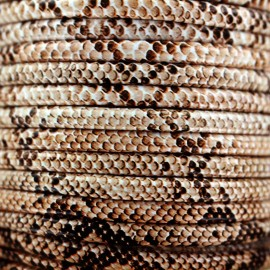 Snake faux leather cord - natural x 1m