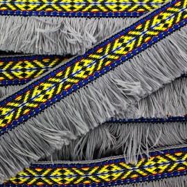 Frange Paracas - gris x 1m