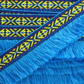 Frange Paracas - turquoise x 1m