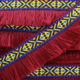 Fringe Paracas - carmine x 1m