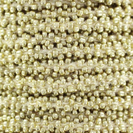Pearl braid trimming - gold x 1m