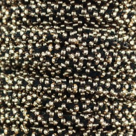 Galon Perles - noir/or x 1m