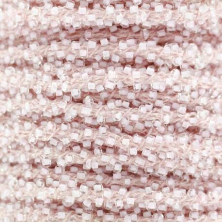 Pearl braid trimming - light pink x 1m