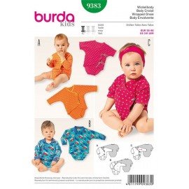 Wrapped Onsie Sewing Pattern Burda n°9383