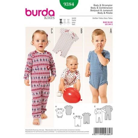 Patron Body & combinaison Burda Kids n°9384