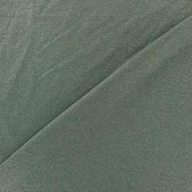 Tissu jersey viscose léger pailleté - vert militaire x 10cm