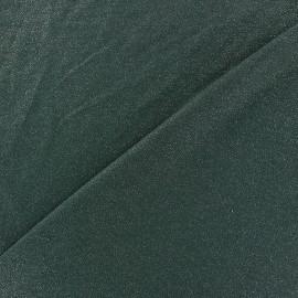 Tissu jersey viscose léger pailleté - vert pin x 10cm