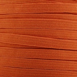 Élastique plat 5 mm - orange x 1m