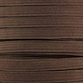Élastique plat 5 mm - marron x 1m