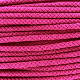 Braided cord 7mm - fuchsia x 1m