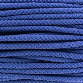 Braided cord 7mm - bleuet x 1m
