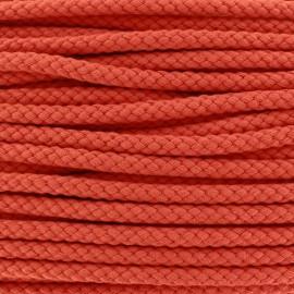 Braided cord 7mm - orange x 1m