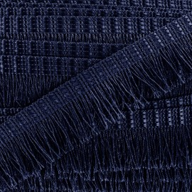 Frange Cabaret - bleu marine x 1m