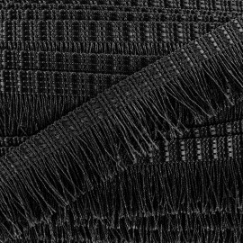 Frange Cabaret - noir x 1m