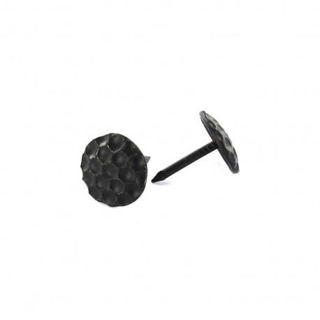 Upholstery Alveoles nail 12mm, 100 pack - black