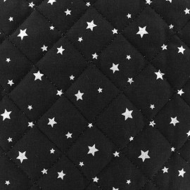Tissu matelassé Scarlet noir x 10cm