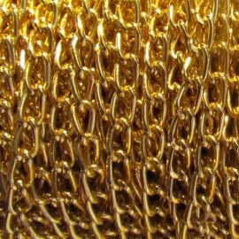 Petite chaîne métal or x 1m