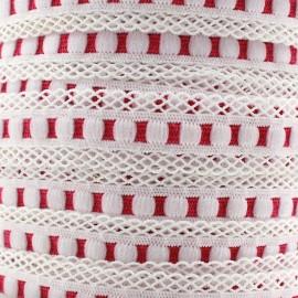 Elastique lingerie festonné 15 mm - fuchsia x 1m