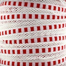 Elastique lingerie festonné 15 mm - rouge x 1m