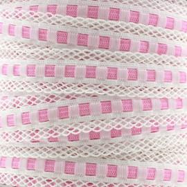 Elastique lingerie festonné 15 mm - rose x 1m