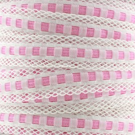 Scalloped lingerie elastic 15 mm - pink x 1m