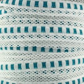 Elastique lingerie festonné 15 mm - turquoise x 1m