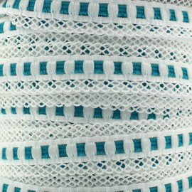 Scalloped lingerie elastic 15 mm - turquoise x 1m