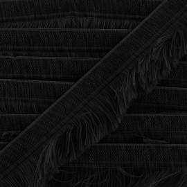 Frange Navajos - noir x 1m